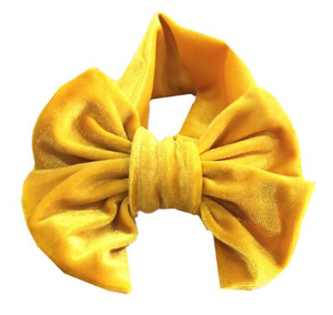 Yellow Velvet Headwrap