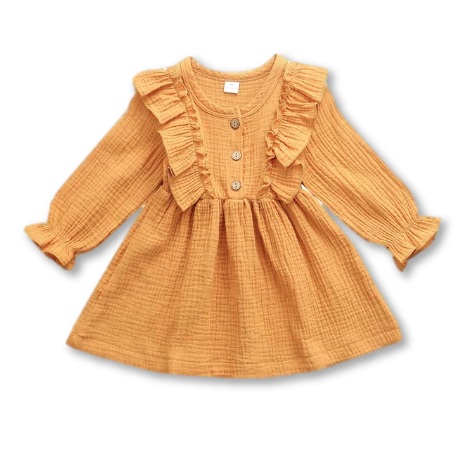 Yellow Ruffle Detail Dress