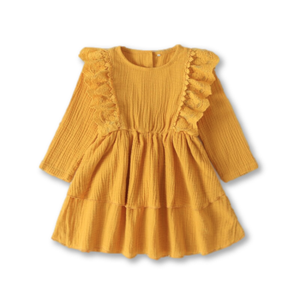 Yellow Lace Detail Dress
