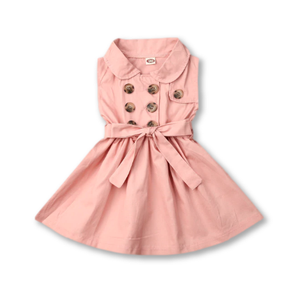 Pink Button Detail Dress