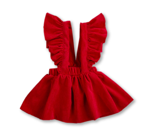 Red Ruffle Detail Skirtspender