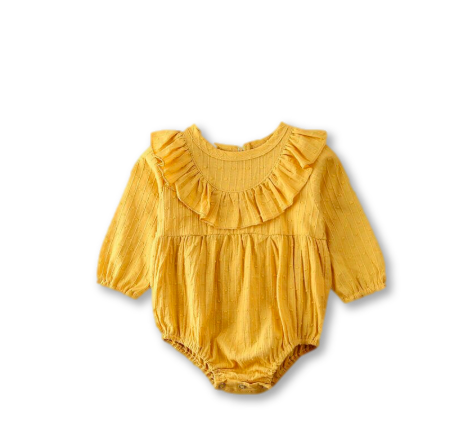 Yellow Textured Romper