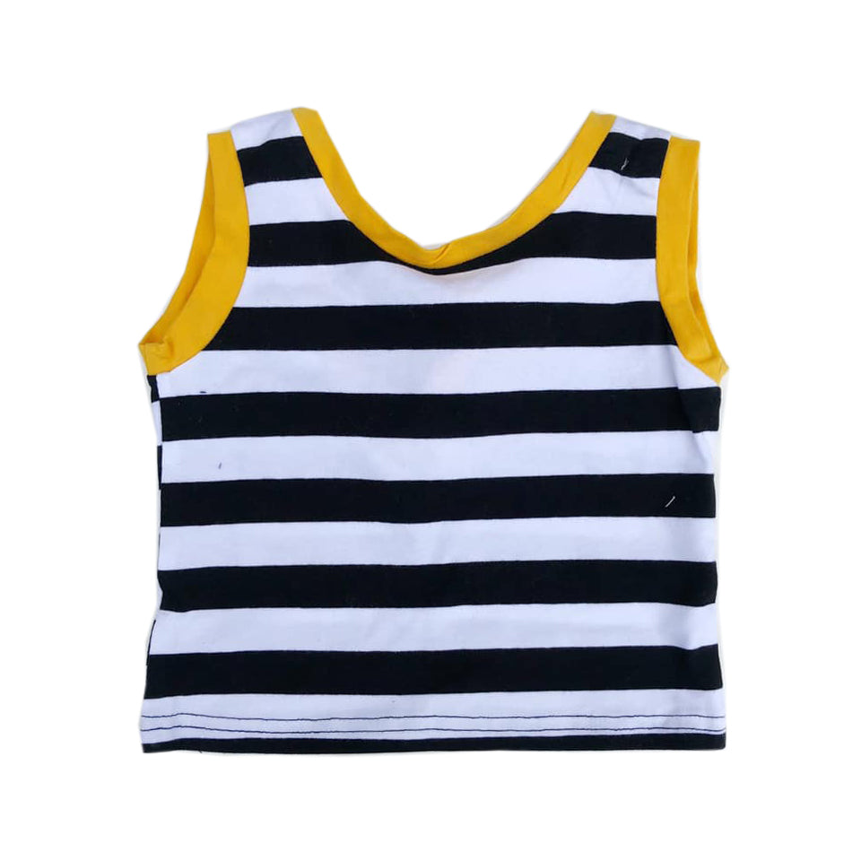 Striped Colored Hem Top