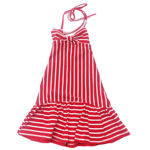 Red Striped Maxi Dress