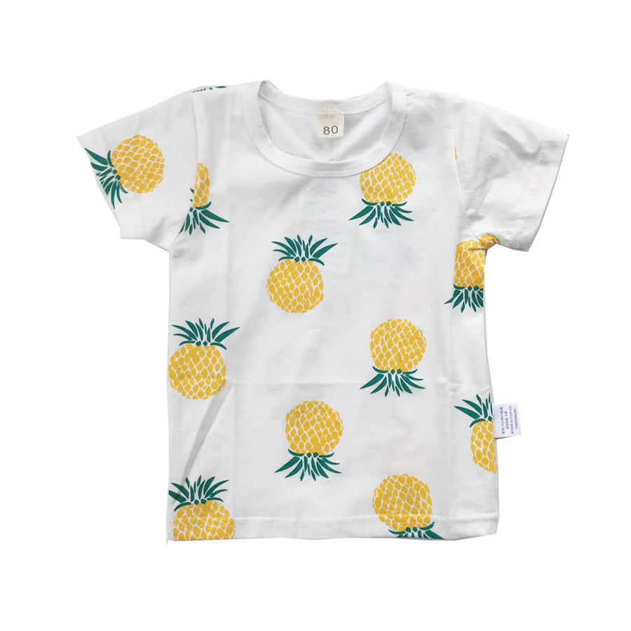 White Pineapple Graphic Tee