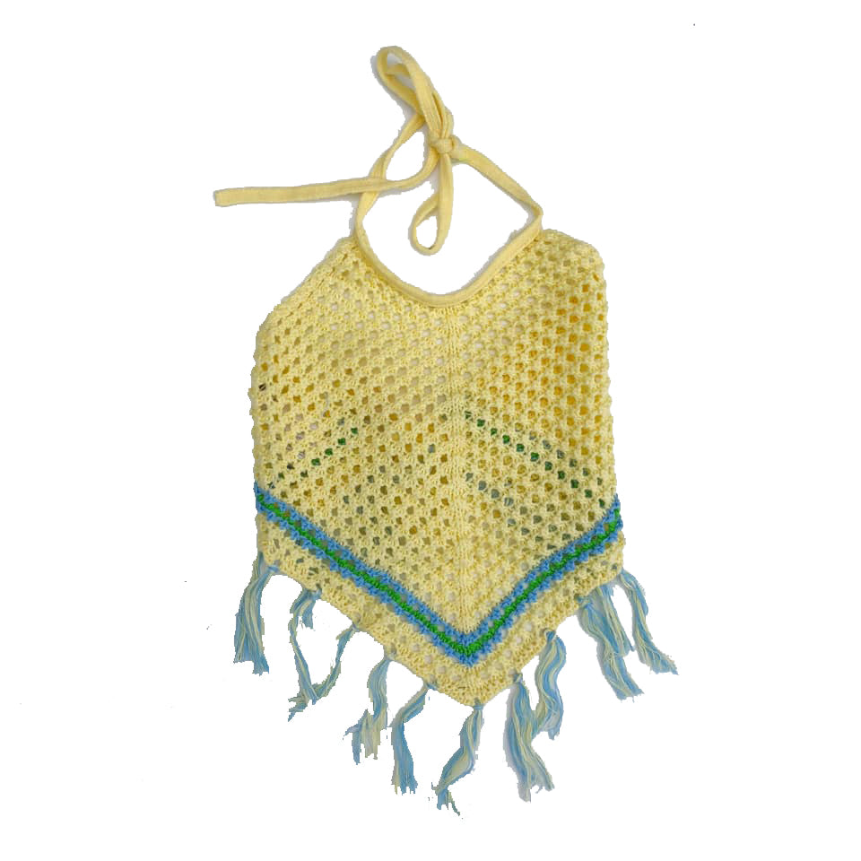 Yellow Crocheted Halter