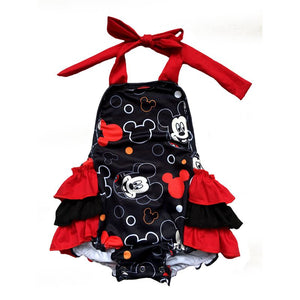Mickey Mouse shoulder tie romper