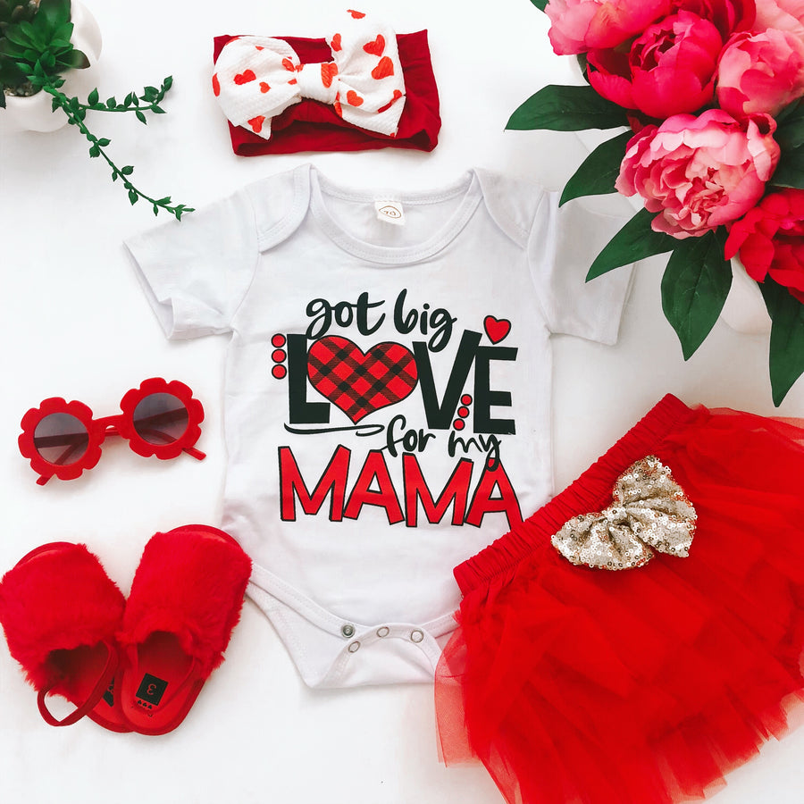 White Valentine's Day Slogan Onesie