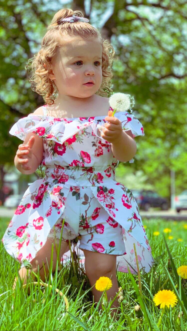 Floral Skirted Romper