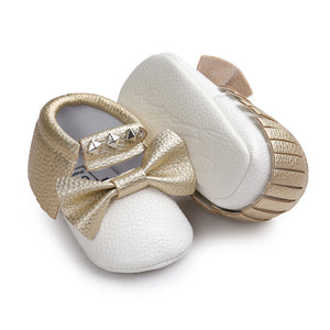 Soft Sole Bow Moccs