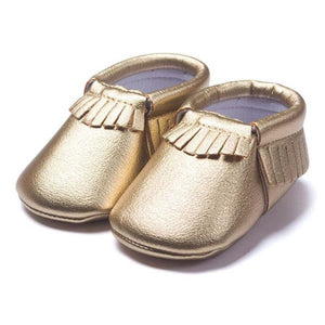 Metallic Soft Sole Moccasins