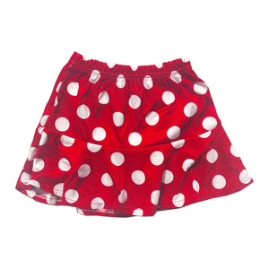 Retro Polka Dot Frill Hem Skirt