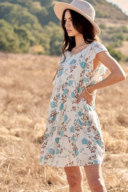 Country Garden Floral Swiss Dot Babydoll Dress - ShopPromesa