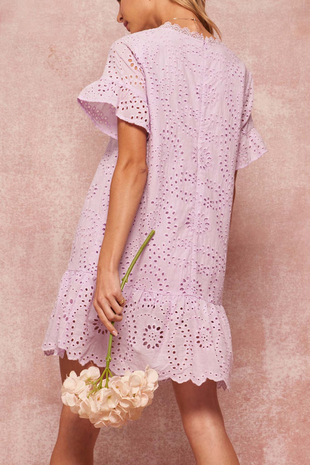 Pretty Baby Eyelet Lace Drop-Waist Babydoll Dress - ShopPromesa