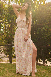 Fairy Garden Ruffled Floral Maxi Dress - ShopPromesa