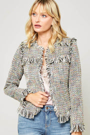 Need for Tweed Frayed Multicolor Tweed Jacket