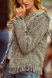 Need for Tweed Frayed Multicolor Tweed Jacket - ShopPromesa