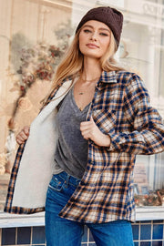 Pike Place Sherpa-Lined Plaid Shirt Jacket - ShopPromesa