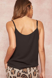 Simply Fabulous Solid V-Neck Cami Top