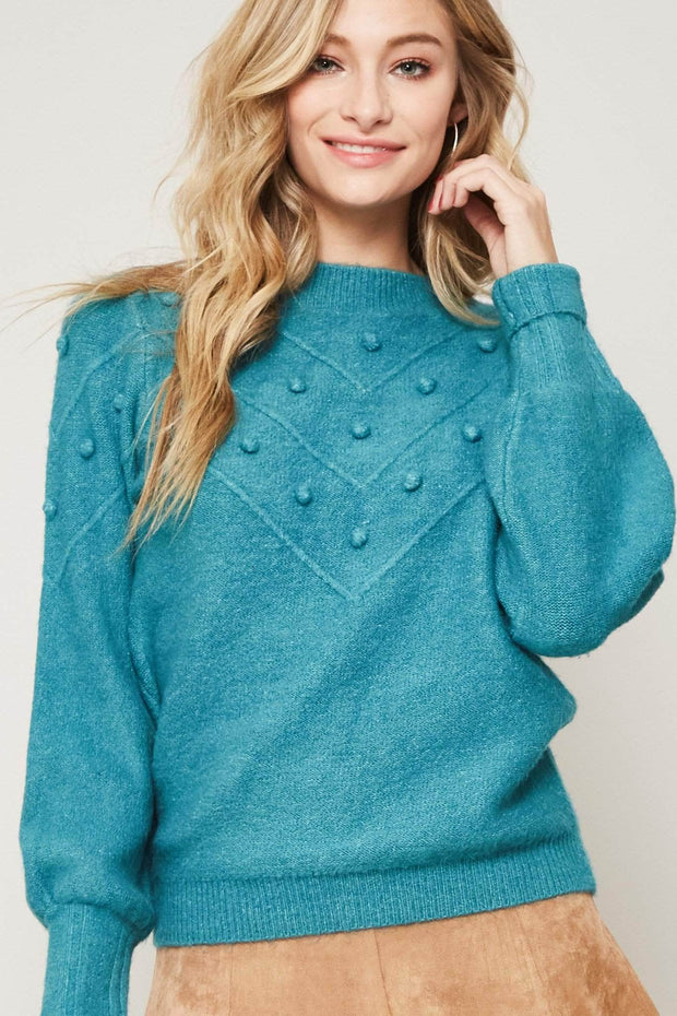 Cheer Squad Felted Pom Pom Sweater - ShopPromesa