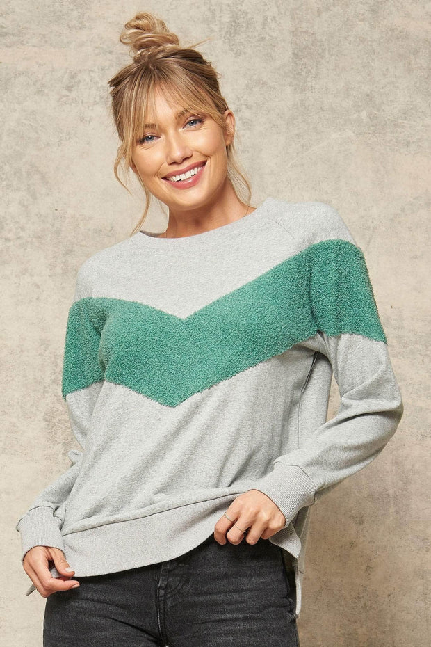Dream Team Chenille Chevron Sweatshirt