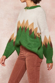 Lookout Peak Diamond-Pattern Alpine Sweater - ShopPromesa