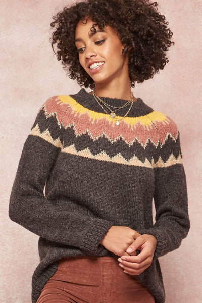 Bunny Slope Metallic Thread Alpine Sweater