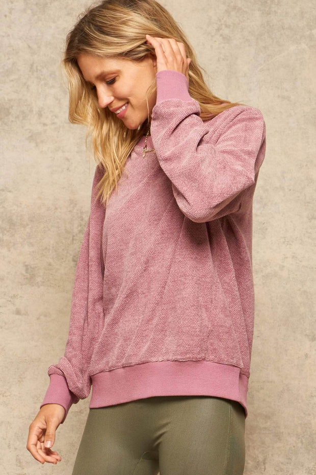 Keep It Casual Textured Knit Pullover Top