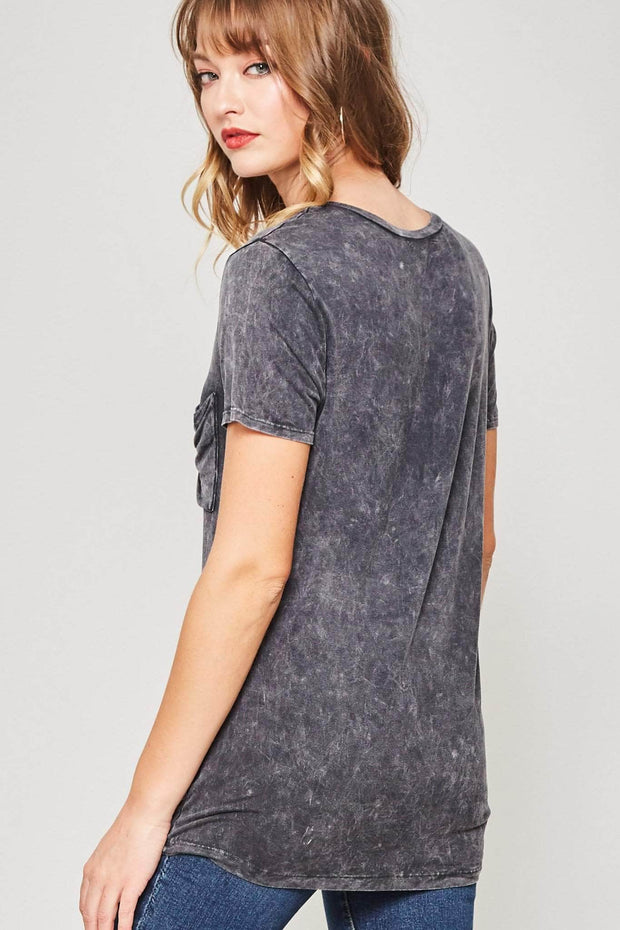 Garage Band Stonewashed Pocket Tee - ShopPromesa