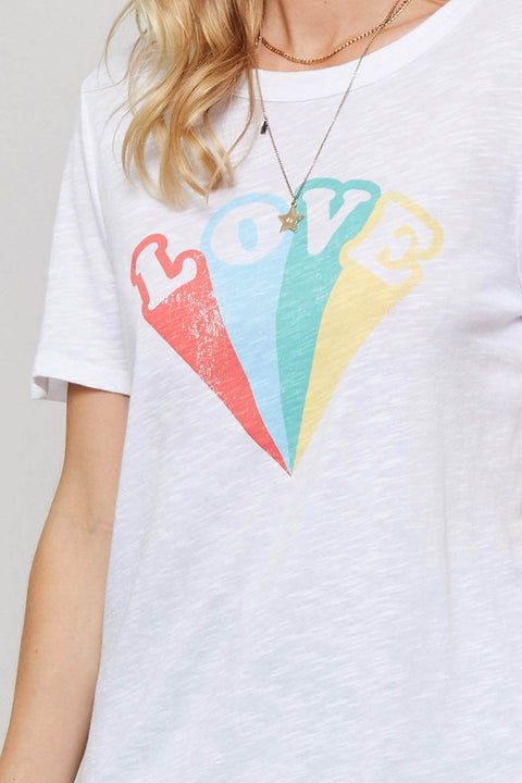 Love Rainbow Vintage-Print Graphic Tee - ShopPromesa