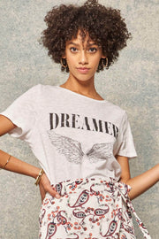 Dreamer Angel Wings Vintage-Print Graphic Tee