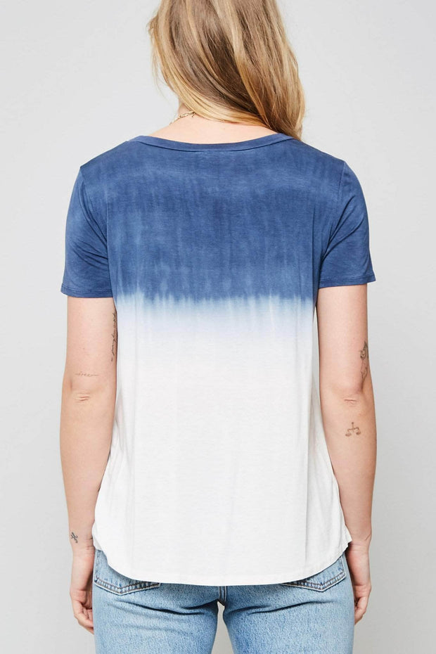 After the Rain Ombre Tie-Dye Pocket Tee - ShopPromesa