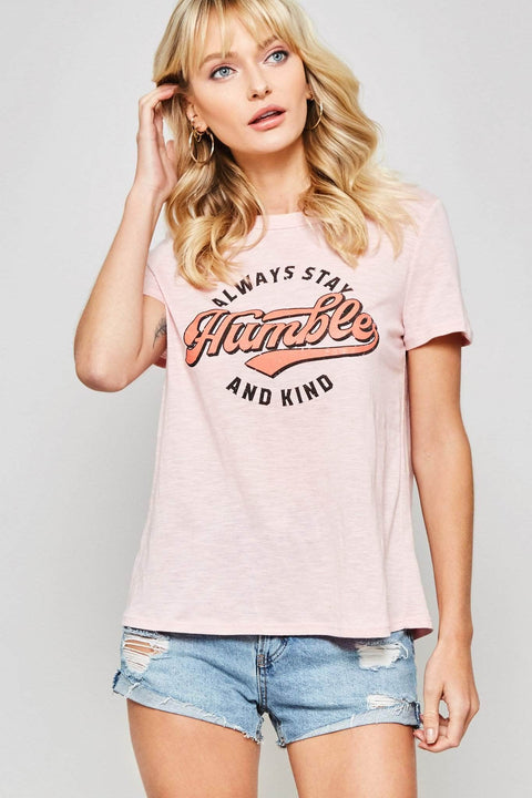 Always Stay Humble and Kind Vintage-Print Graphic Tee - ShopPromesa