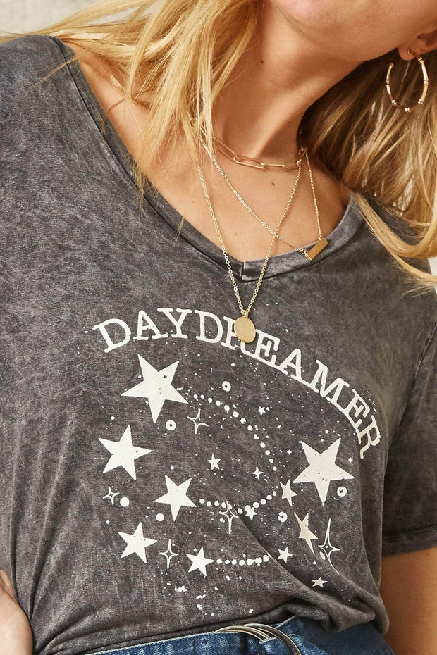 Daydreamer Stone-Washed Vintage Graphic Tee - ShopPromesa