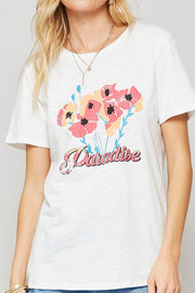 Paradise Floral Vintage-Print Graphic Tee - ShopPromesa