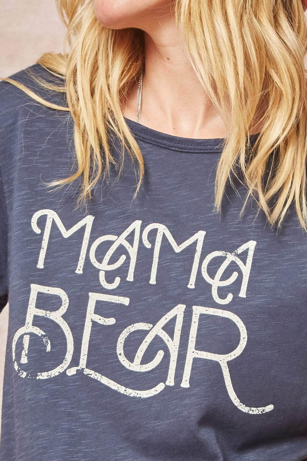 Mama Bear Vintage Slub-Knit Graphic Tee - ShopPromesa