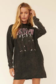 KISS Dressed to Kill Graphic Hoodie Mini Dress - ShopPromesa