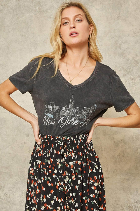 New York City Stone-Washed Vintage Graphic Tee - ShopPromesa