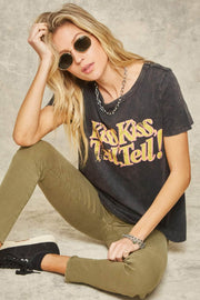 Kiss and Tell Stone-Washed Vintage Graphic Tee - ShopPromesa