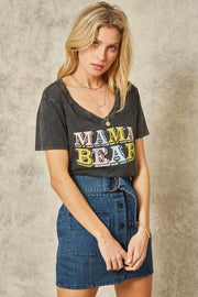 Mama Bear Stone-Washed Vintage Graphic Tee - ShopPromesa