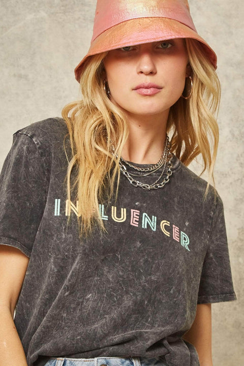 Influencer Stone-Washed Vintage Graphic Tee - ShopPromesa