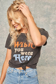 Wish You Were Here Vintage Washed Graphic Tee - ShopPromesa