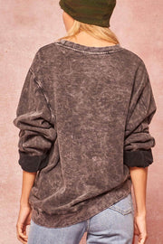 Rock Steady Distressed Stone-Washed Sweatshirt - ShopPromesa