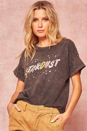 Stardust Stone-Washed Vintage Graphic Tee