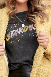 Stardust Stone-Washed Vintage Graphic Tee - ShopPromesa