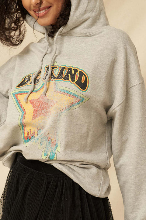 Be Kind Garment-Dyed Vintage Graphic Hoodie - ShopPromesa