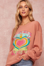 Beautiful Confidence Vintage Graphic Sweatshirt - ShopPromesa