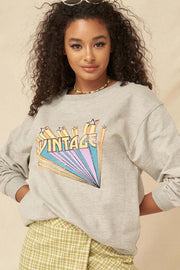 Vintage Stars French Terry Graphic Sweatshirt - ShopPromesa