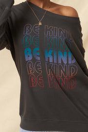 Be Kind Garment-Dyed Graphic Sweatshirt