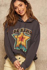 Be Kind Garment-Dyed Graphic Hoodie - ShopPromesa